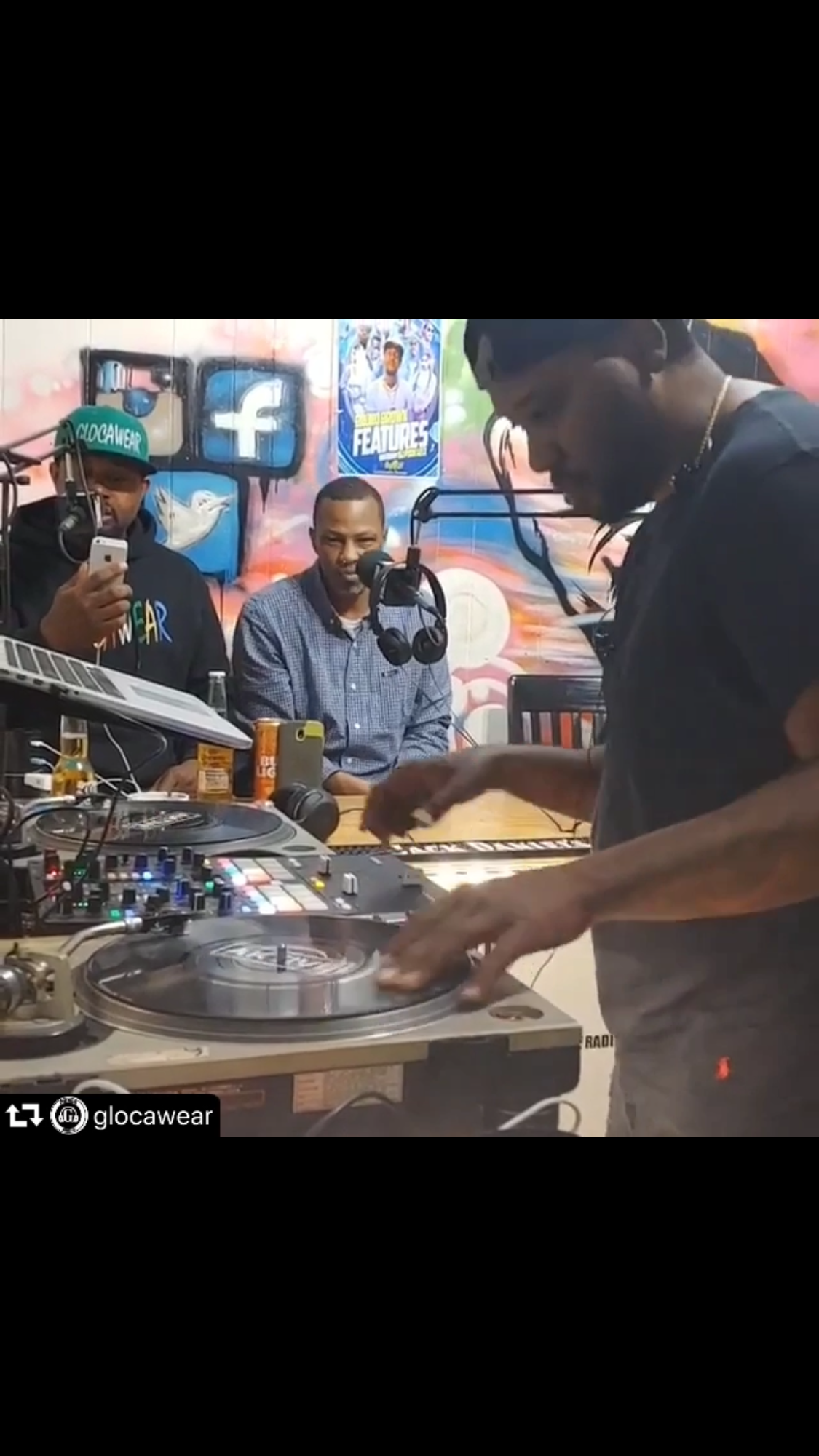 """""""LIVE"""" on The 1's & 2's in studio on @thatdjtalk"""