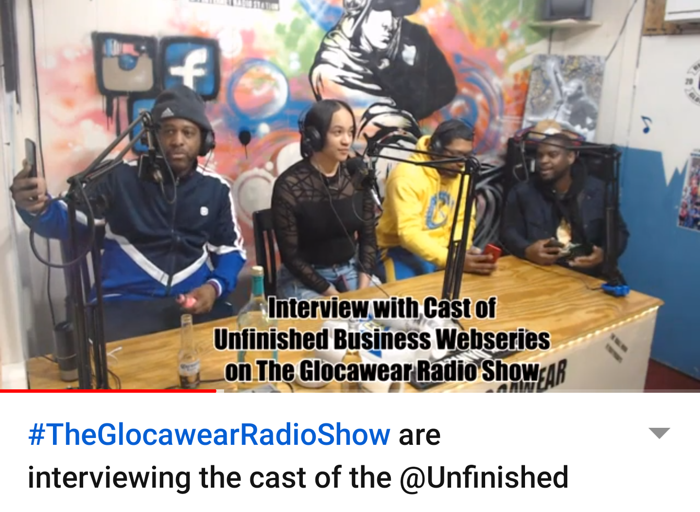 The Glocawear Radio Show are interviewing the cast of the @Unfinished_Business_Webseries