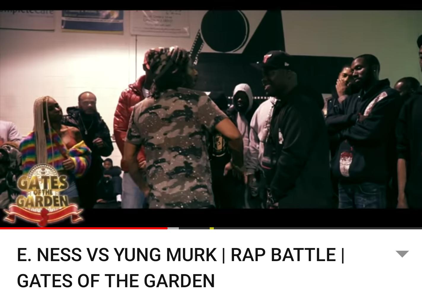 E. NESS VS YUNG MURK | RAP BATTLE | GATES OF THE GARDEN