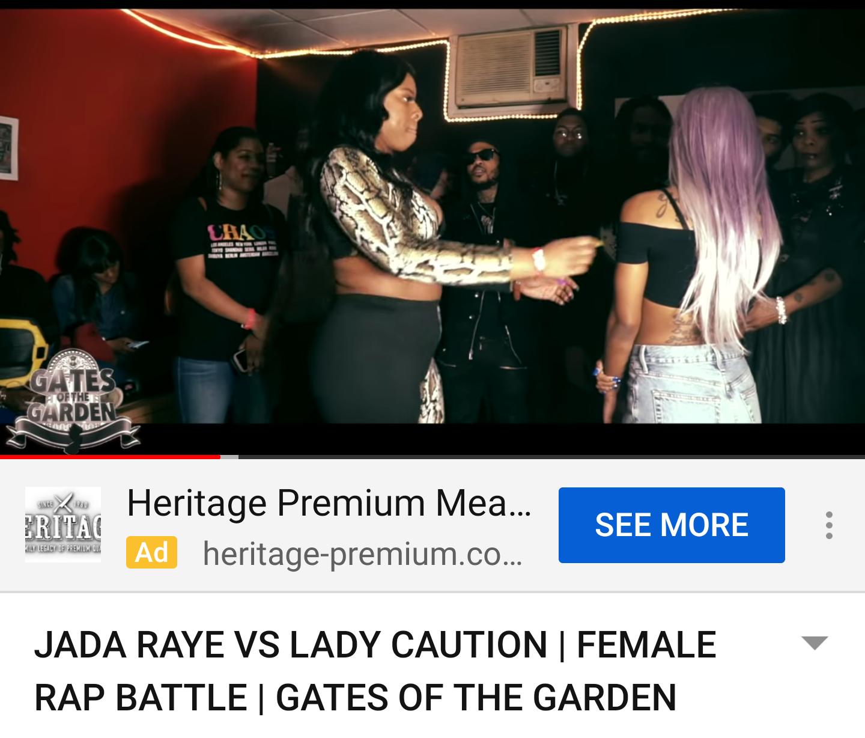 JADA RAYE VS LADY CAUTION | FEMALE RAP BATTLE | GATES OF THE GARDEN