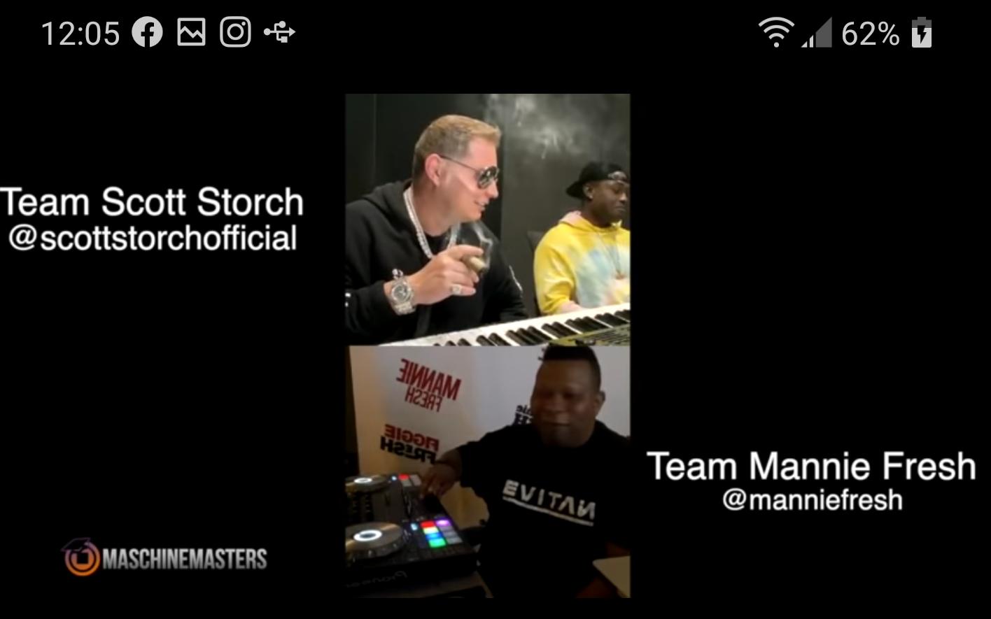 Scott Storch Vs Mannie Fresh IG Live Super Producer Beat Battle
