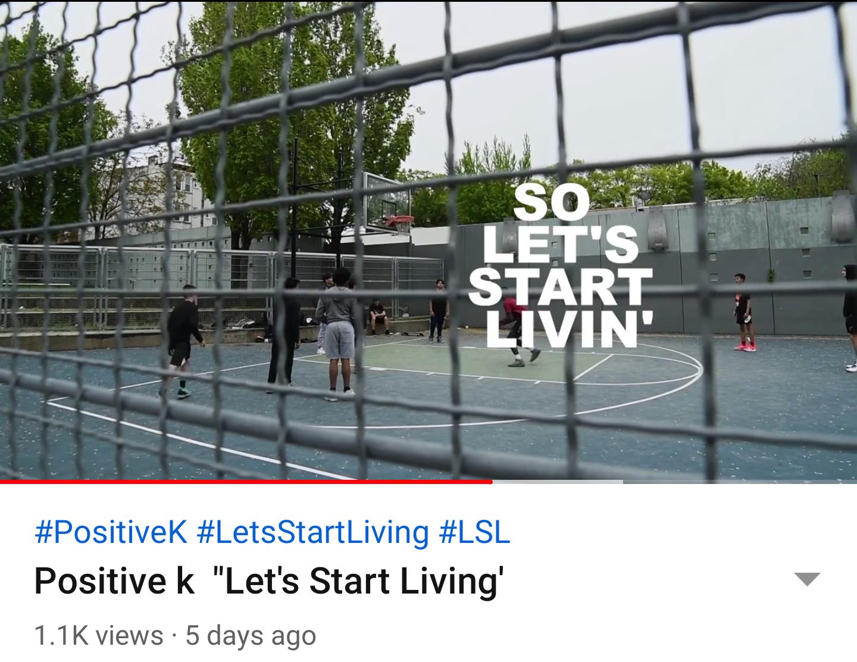 """Positive k """"Let's Start Living'"""